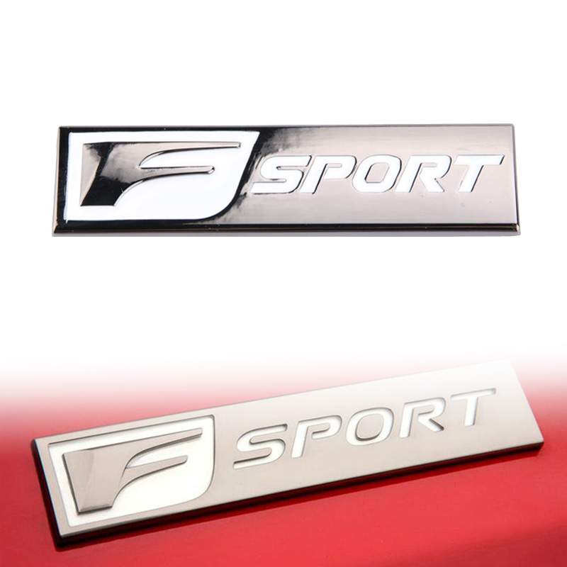 3D <font><b>F</b></font> <font><b>SPORT</b></font> Symbol Car Auto Body Side Rear Emblem Badge Sticker for <font><b>Lexus</b></font> ES <font><b>GS</b></font> NX IS 250 RX 200T <font><b>350</b></font> Universal image