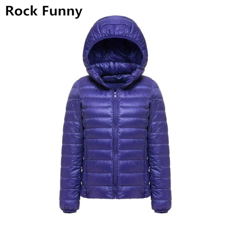 Kadın Ultra Hafif Ince Aşağı Kapüşonlu Ceket Şeker Renk 90% beyaz Ördek Rahat Moda Katı Sıcak Aşağı Fermuar Ceket Kış ceket
