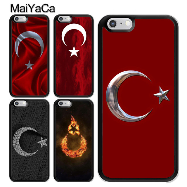 3469eed0d7f MaiYaCa Retro Republic of Turkey Flag Soft TPU Case For iPhone 5 5S SE For  iPhone 6 6S 7 8 Plus X Rubber Phone Back Cover Shell