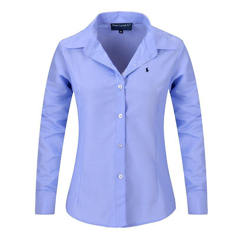 Compra mujeres camisa oxford online al por mayor de China
