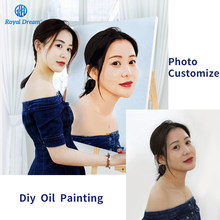 Photo Customized Painting by Number Customs DIY Oil Painting By Numbers Picture Drawing Canvas Portrait Wedding Family Photos(China)