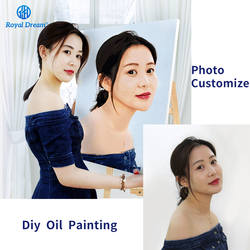 Photo Customized Painting by Number Customs DIY Oil Painting By Numbers Picture Drawing Canvas Portrait Wedding Family Photos