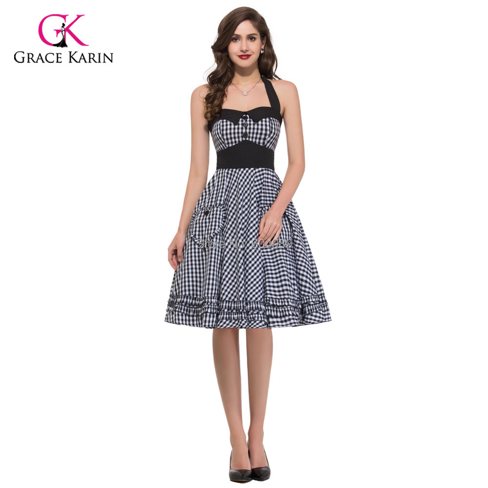 2015 Summer Style Retro Vintage 50s Swing Pin up Dress ...