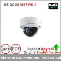 Hikvision Original English DS 2CD215F I 8MP Fixed Dome Network IP Camera
