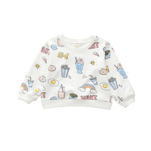 Cartoon Pattern Children Clothes Fashion Baby Girl And Boy Hoodies Autumn Kid O-neck Tops Girls Funny Print Long-sleeve T shirts