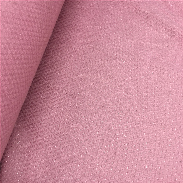 Free ship pink weaved with shining line tweed fabric price for 1 meter 145 cm wide