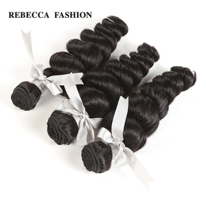 Image 3 - Rebecca Brazilian Loose Wave Bundles 8 30 Inch 1/3/4 Pcs 100% Human Hair Bundles Remy Hair Extensions