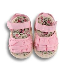 New Summer Casual Baby Girl Shoes Blue White Pink Baby Sandals Newborn Soft Anti-slip Toddler Infant Shoes 2019