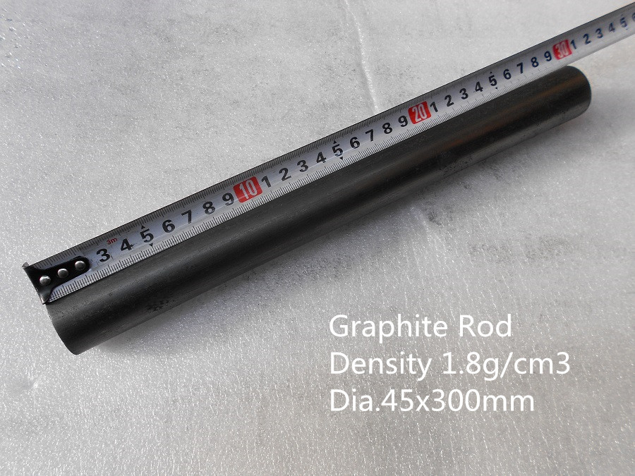 graphite stir rod  dia.45*300mm   for glass industry /   melting mixing gold   /Graphite Cylinder / lubricating graphite columns dia 200 20mm carbon graphite round plate graphite stir rod melting gold silver stirring rod graphite for mixing silver
