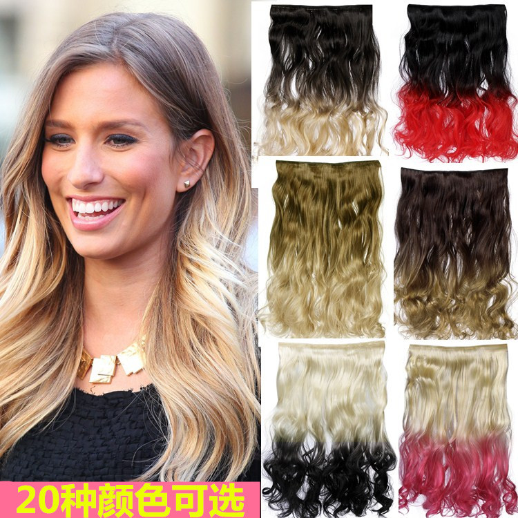 A Piece Of Type 5 Clip Color Wig Hair Curly Hair Extensions Import