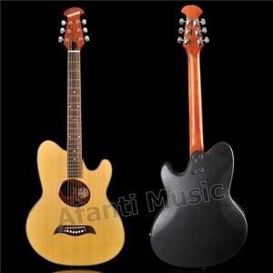 Лидер продаж! Акустическая гитара Afanti Music Super Roundback, задняя часть из углеродного волокна и боковая Акустическая гитара (ANT-178)