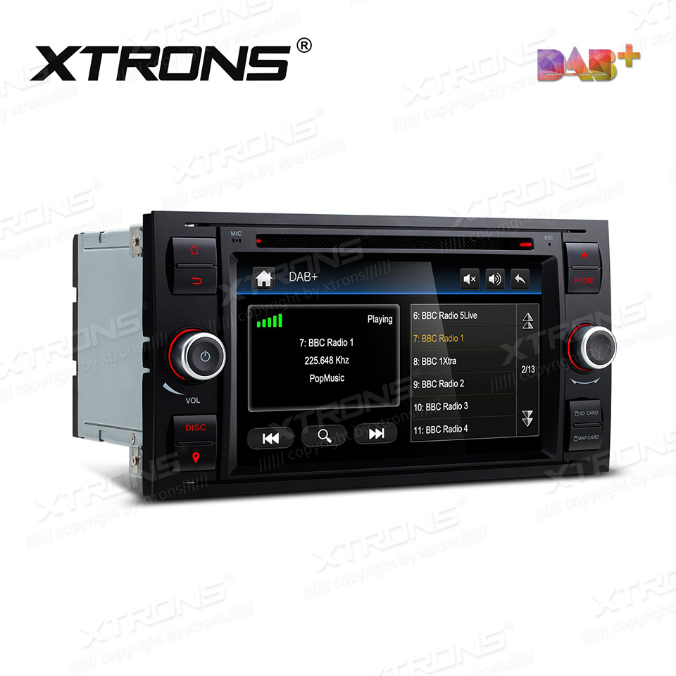 7 DAB+ Car Radio DVD Player GPS For Ford Focus C-Max S-Max Galaxy Kuga Fusion Transit Fiesta Connect Auto 2 Din SD RDS Stereo image