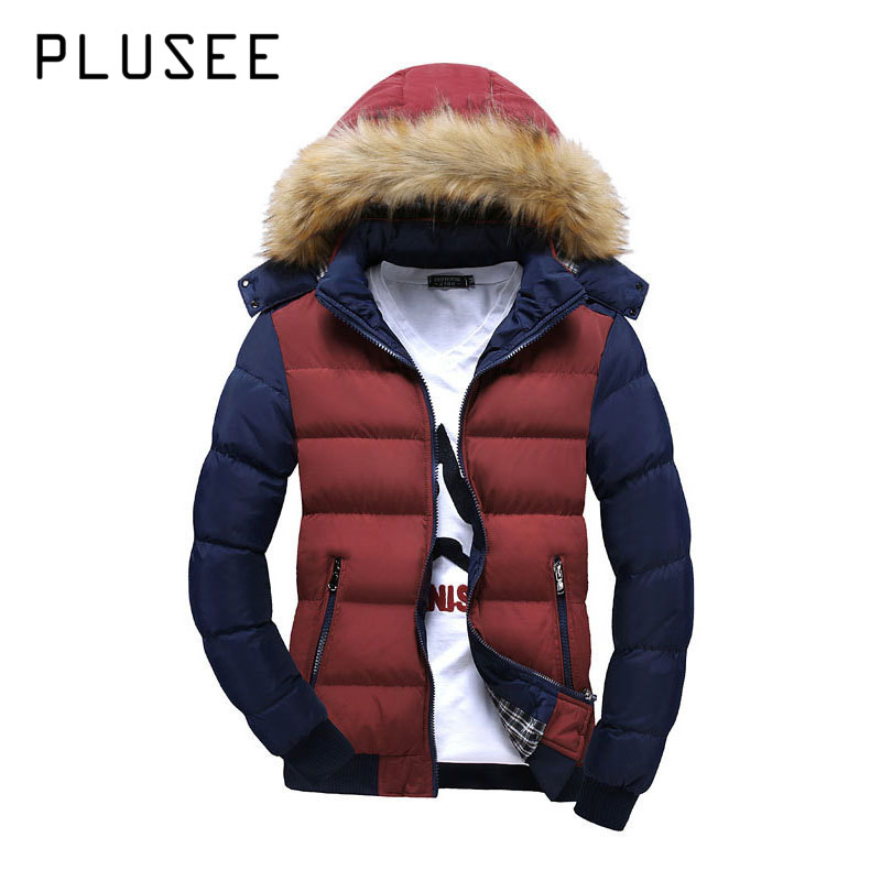 Plusee 2017 Men Winter Jacket Warm Male  Hooded Coats Fashion Thick Thermal Men Parkas Casual Men 4XL Clothing Men Winter Jacket free shipping winter parkas men jacket new 2017 thick warm loose brand original male plus size m 5xl coats 80hfx