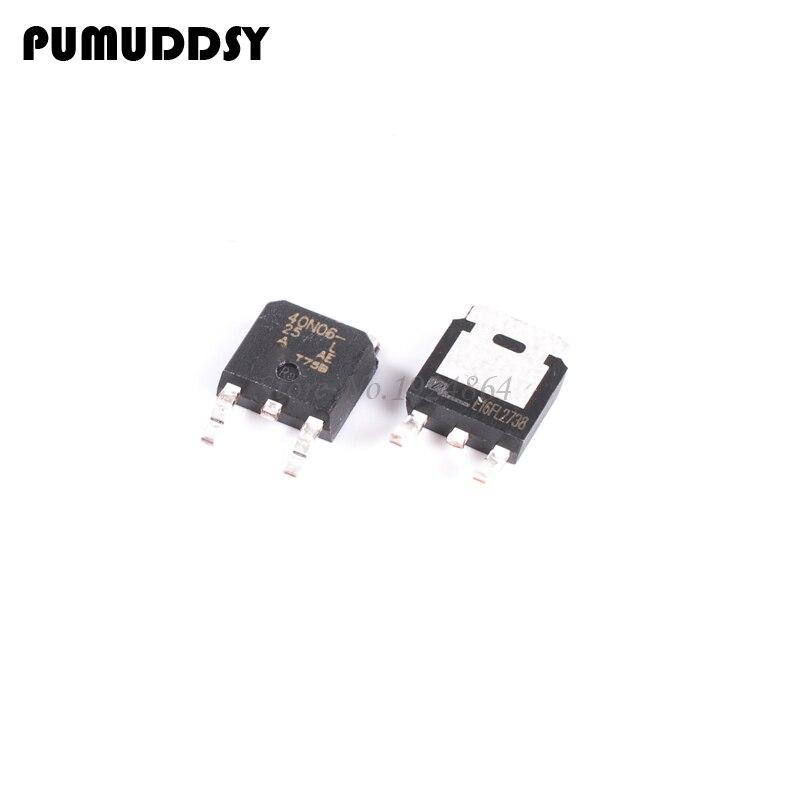 10PCS SUD40N06-25L MOS field effect DPAK 40N06 40N06-25L SMD transistor