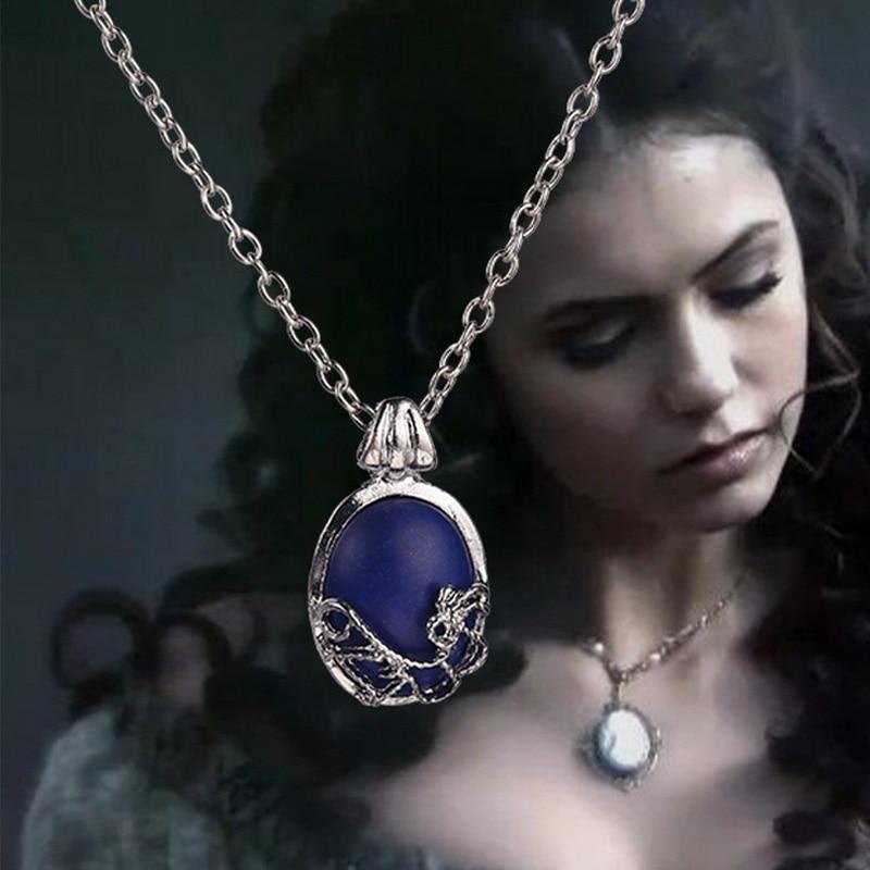 Ожерелье дневников вампира, винтажный кулон Katherine, модные ювелирные изделия из фильма, косплей для женщин, оптовая продажа