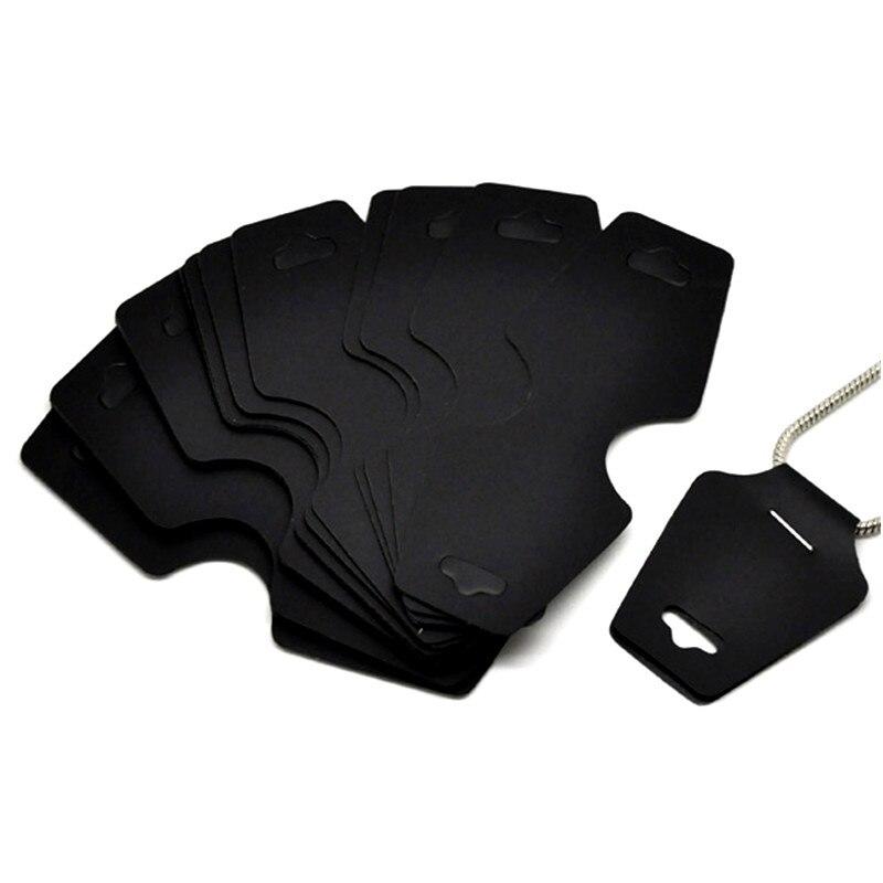50 cartões de exibição de plástico preto dos pces para colares em jewerly diy encontrar 11x4.5cm
