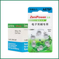 60 PCS ZeniPower Cochlearar Hearing Aid Batteries High power Zinc Air battery 675P/A675P/PR44 for BTE Hearing aids Free Shipping