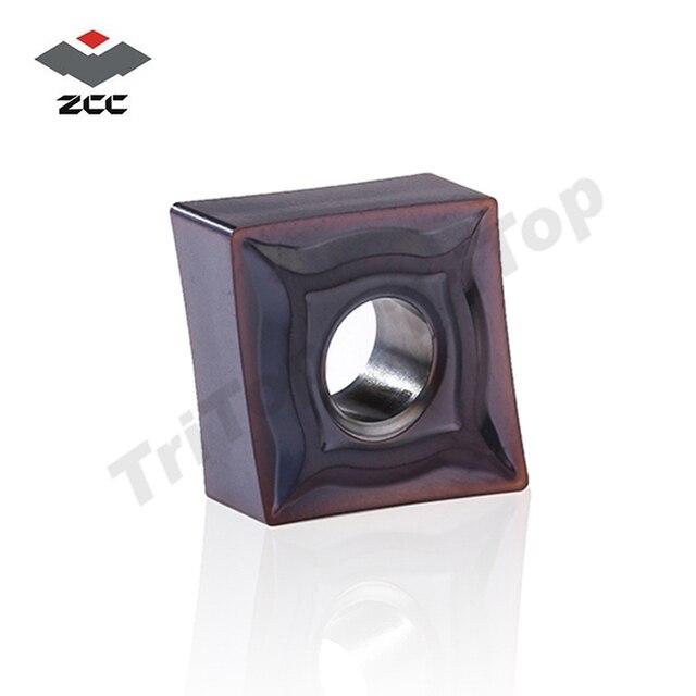 10 pcs/lot plaquettes de tournage en carbure de tungstène ZCC. CT YBG205 CNMG 120404-EF pour lusinage des CNC CNMG431 CNMG120404