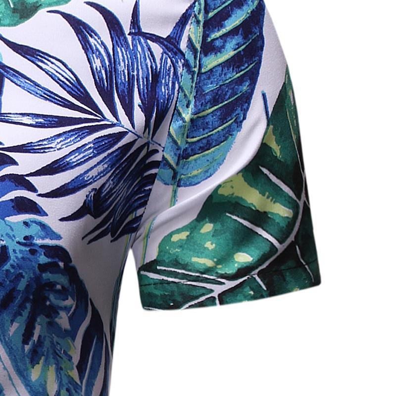 Flower Shirt For Men Short Sleeve Men's Casual Floral Shirt Hawaiian Beach Style Blouse Men Summer Ready Stock New