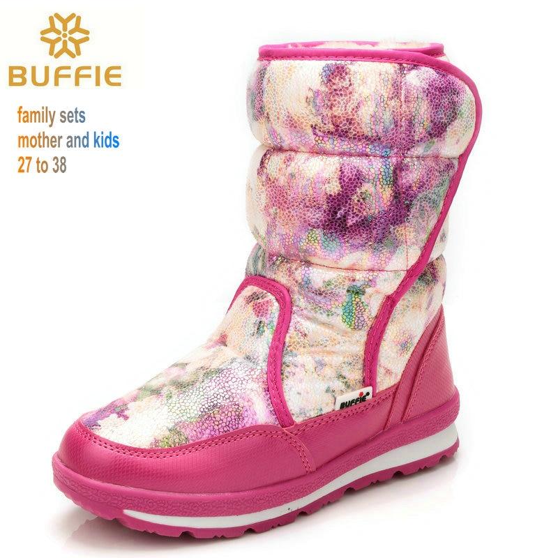 핑크 로즈 스노우 부츠 여성 겨울 부츠 숙녀 패션 - 여성 신발