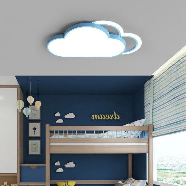 Lámpara de techo de Luna y estrella blanca para dormitorio, accesorio de iluminación moderno para habitación de niños y bebés, luces Led para el techo del hogar