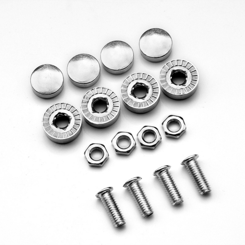 8pcs//Set CHROME SCREW CAP BOLT CAPS COVERS for Car Truck License Plate Frame