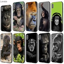 Lavaza Chimpanzee Chimp Monkey Cute Animal Case for iPhone 11 Pro XS Max XR X 8 7 6 6S Plus 5 5s se(China)