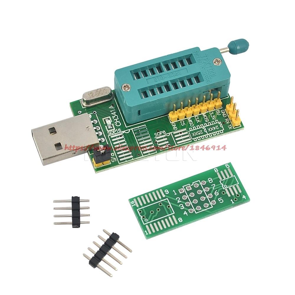 Free Shipping CH341A 24 25 Series EEPROM Flash BIOS DVD USB Programmer W/Software&Driver(C1B5)