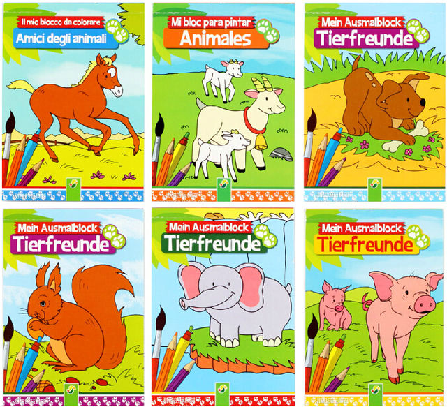 baby color painting books childrens drawing books about animals 6 books in all - Children Drawing Books