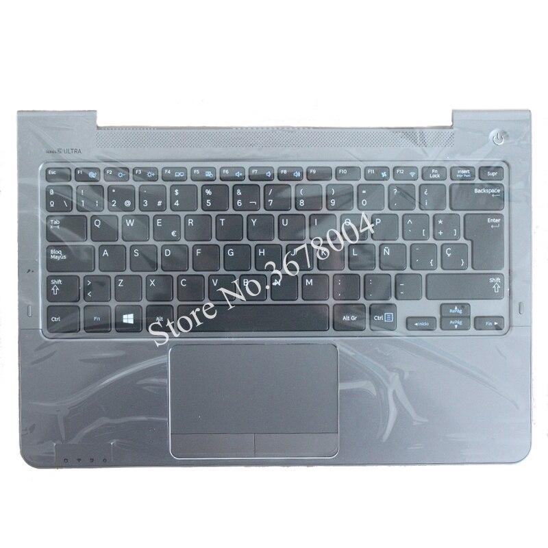 SP For Samsung NP530U3C NP530U3B NP535U3C 530U3B 530U3C NP540U3 NP532U3C NP532U3A Spanish Keyboard Gray Palmrest Cover