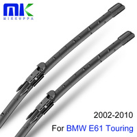 Combo Voor & Achter Wisserbladen Voor Bmw E61 Touring 2002-2010 Silicone Rubber Voorruit Wisser Auto accessoires