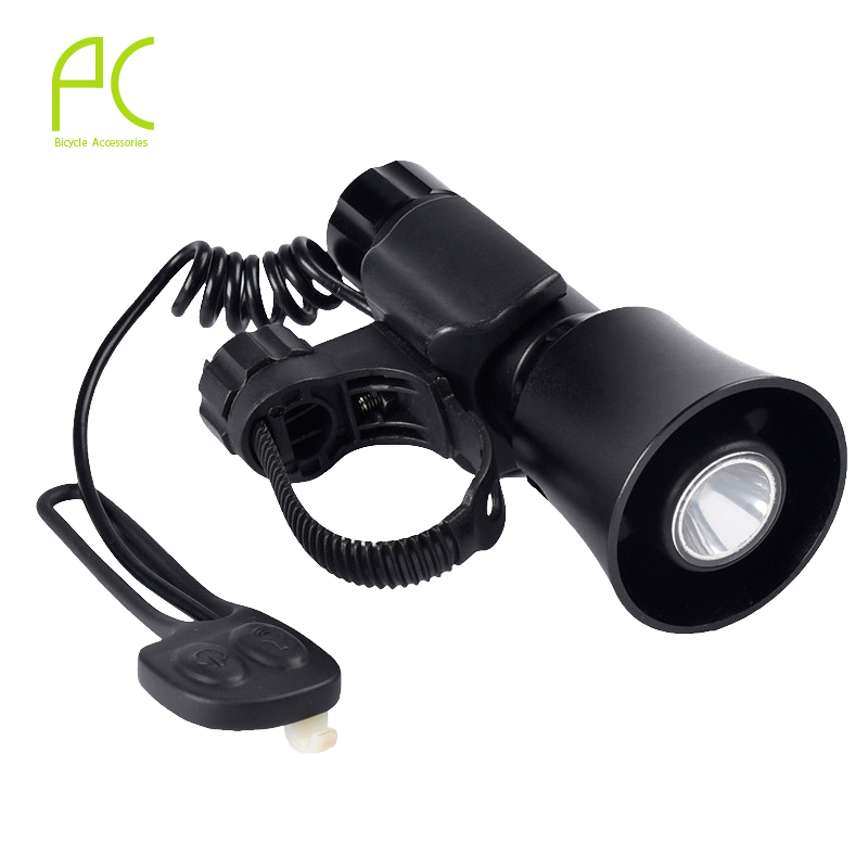 PCycling Bike Bell + Bicycle Front Light Q5 LED 4 Tones 5 Lighting Modes Rechargeable With Battery lamp Bike <font><b>Horn</b></font> Cycling Light