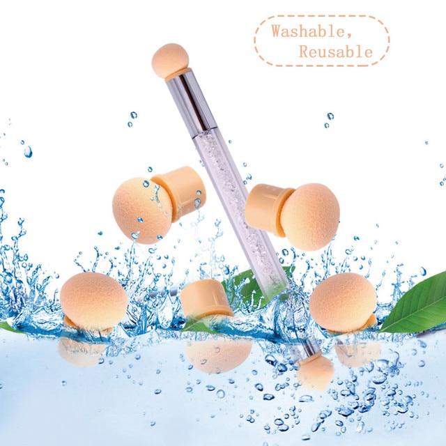 2018 New Fashion 10PCS Sponge Heads Reusable Nail Art Painting Gradient Shade Pen Brush Beauty Drop Shipping Eye Shadow Applicator