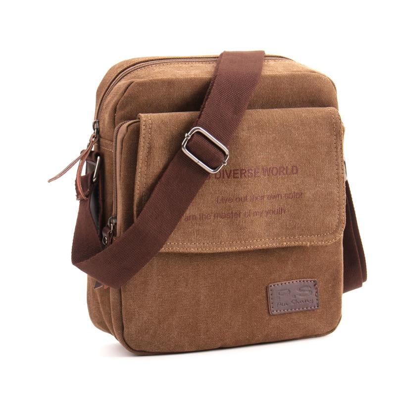 f3213192489d 2019 Новая мужская повседневная сумка-мессенджер с клапаном,  высококачественный небольшой портфель, холщовые сумки