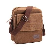 2019 Новая мужская повседневная сумка-мессенджер с клапаном, высококачественный небольшой портфель, холщовые сумки на плечо для мужчин, дело...