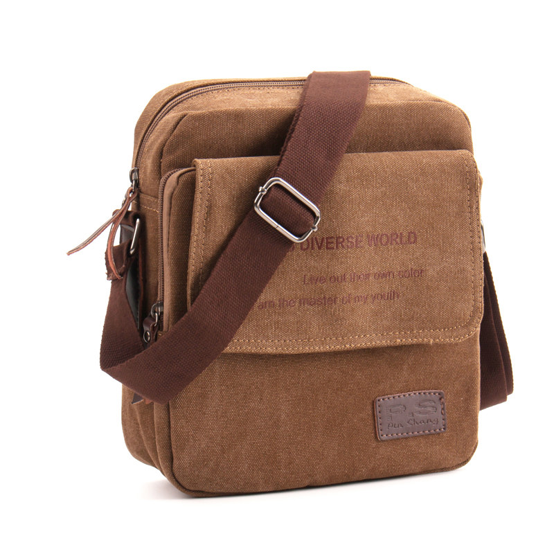 2019 NEW Men Casual Messenger Flap Bag High Quality Small Briefcase Canvas Shoulder Bags For Men Business Travel Crossbody Bag