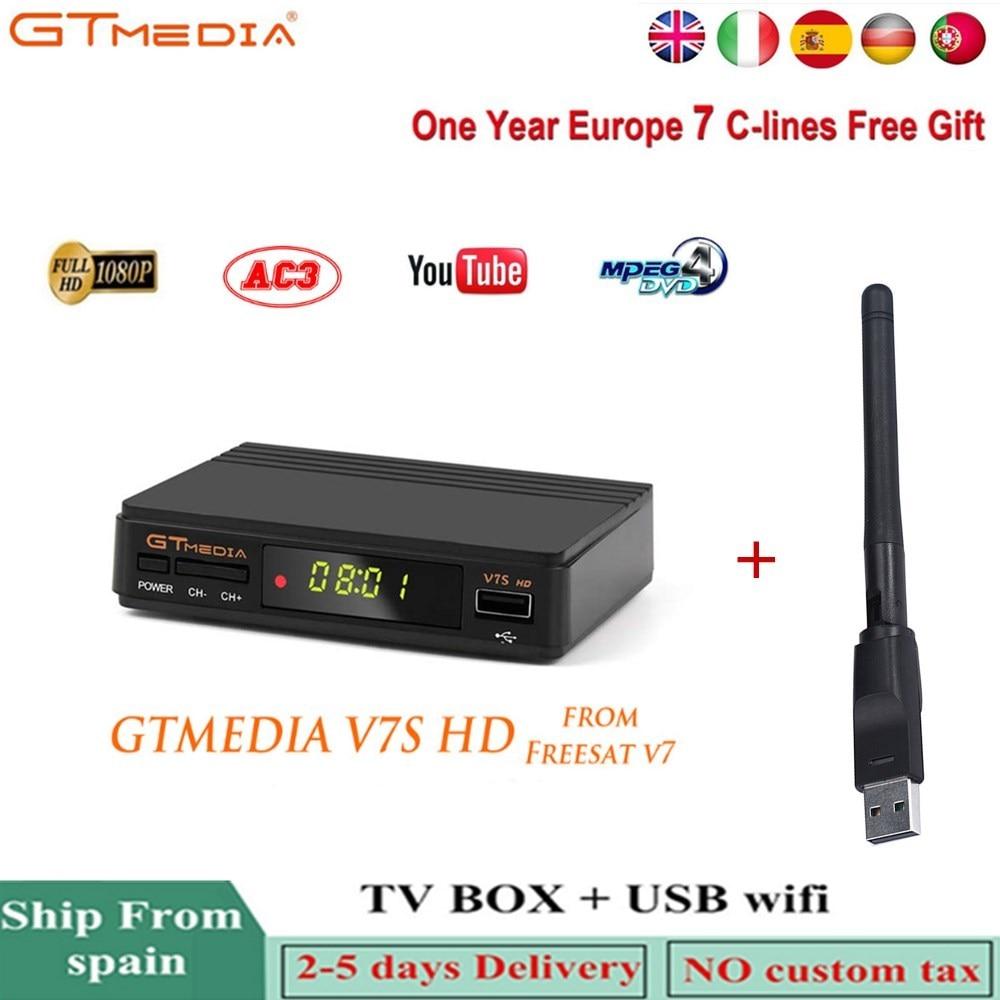 Hot Sale] Hot DVB S2 Freesat V7 hd With USB WIFI FTA TV Receiver