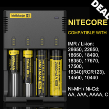 Authentic Original Nitecore i4 4 Slot Smart Battery Charger with Indicators for NiCd Ni MH Lithium