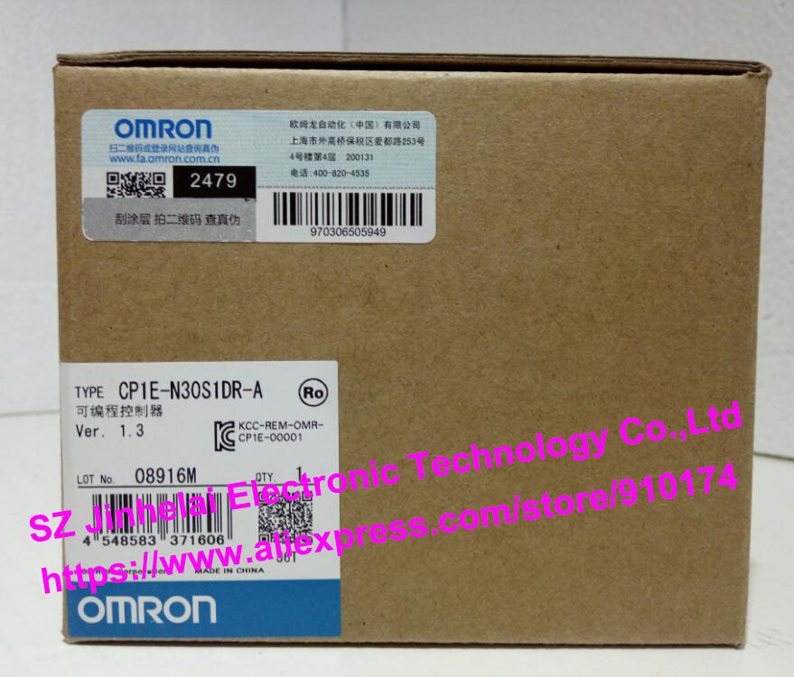 New and original CP1E-N30S1DR-A OMRON PLC controller кольцо бижутерия 2405078р
