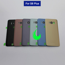 New Rear Glass Housing Case For Samsung Galaxy S8 Plus G955F Back Battery Cover Door For Samsung S8+ Back Glass w Lens все цены