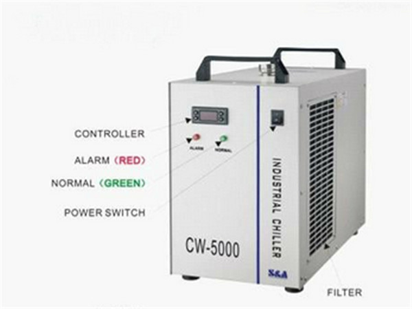 1pc  6L 10M Industrial Laser Water Chiller CW-5000DG 220V 50/60HZ industrial chiller hot sell high quality cw3000 water chiller cooling laser tube for laser machine