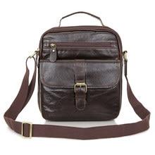 Designers Brand Mens Messenger Bags Genuine Leather 2018 Vintage Men Shoulder Bag Man Crossbody bag Travel Business Handbags
