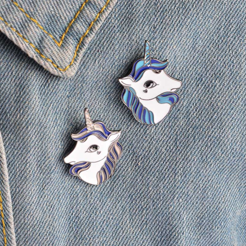 Sale 1PC Cute  Alloy Women Unicorn Pin Badge DIY Brooch For Clothes Collar Bags Gift