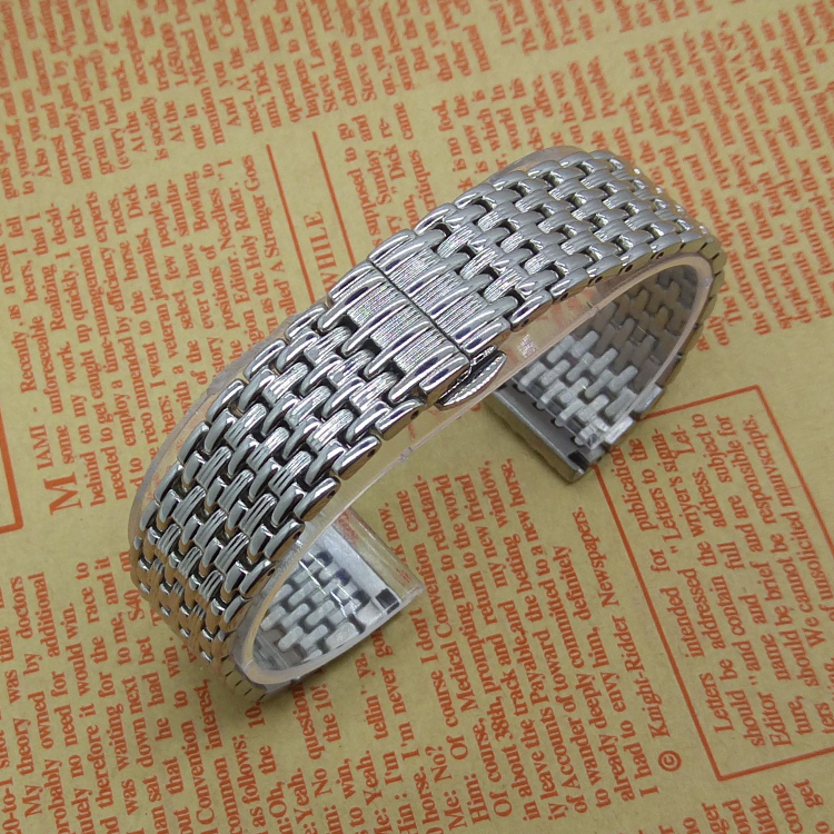 Thiner Watchband Stainless Steel Metal Watch Straps Bracelets for mens womens Watch 18MM 20MM 22MM Silver Promotion Accessories loose stainless steel silver shark mesh watchband bracelets special end safety buckle 18mm 20mm 22mm 24mm promotion men s straps