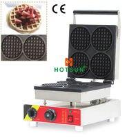 Commercial Nonstick 110V 220V Electric 4pcs Belgian Liege Waffle Maker Machine