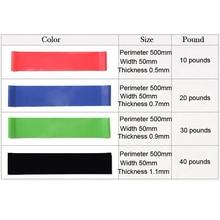 4pcs/lot Elastic Tension Resistance Bands 50cm 4 Levels Latex Rubber Loops Bands Yoga