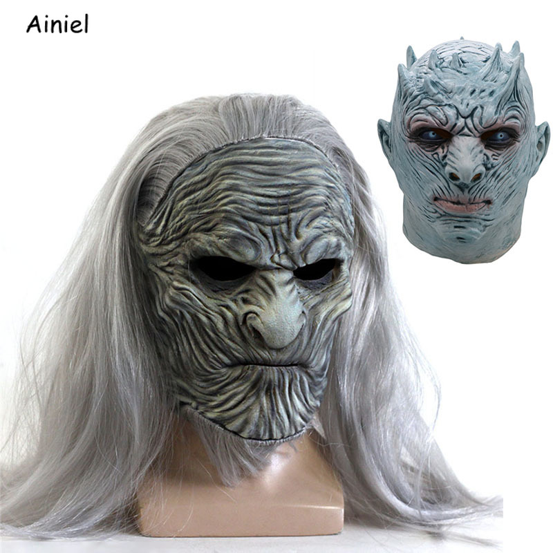 Gentle A Song Of Ice And Fire Game Of Thrones Season 8 White Walkers Night King Mask Cosplay Full Head Mask Helmet Latex Prop Halloween Back To Search Resultshome
