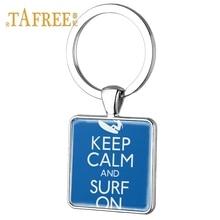 Keep Calm And Go Surfing Keychain
