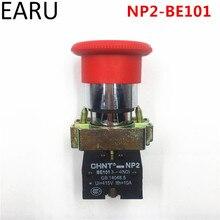 1 шт. ERU NC без Выключатель без фиксации 22 мм красный гриб Аварийная остановка кнопочный переключатель 600 в 10 А NP2-BE101 подъемное оборудование Elevat