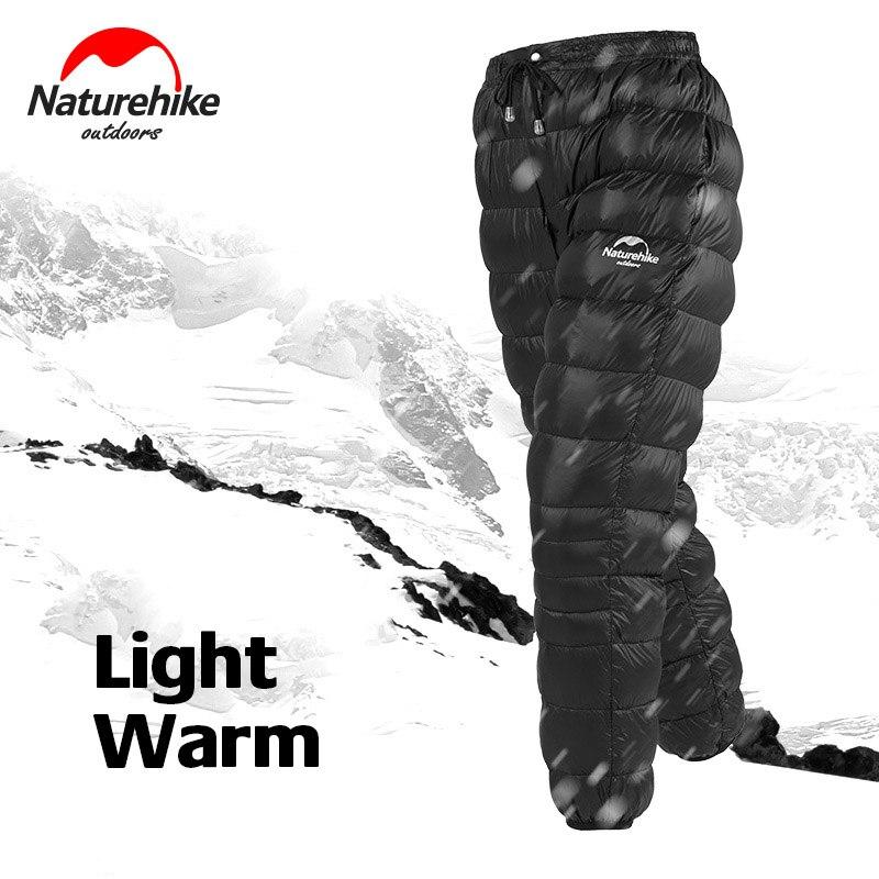 Naturehike 2019 New Outdoor White Goose Down Pants Waterproof Wears Men Women Snow Camping Light Warm Winter Down Trousers